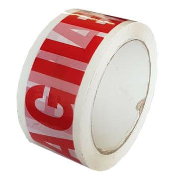 66 metres FRAGILE TAPE heavy duty 45mic thick x 48mm parcel 1 /2 /4 /6 /10 ROLLS